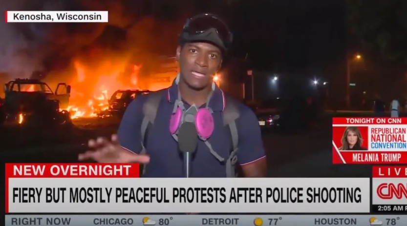 "CNN chyron: ""Fiery But Mostly Peaceful Protests"""