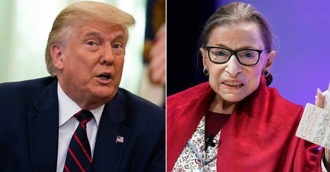 Trump signals he will replace Justice Ginsburg