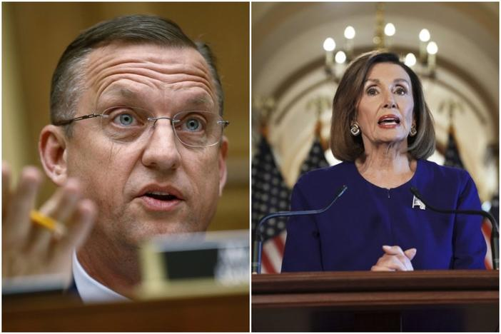 Representative Doug Collins, Speaker Nancy Pelosi