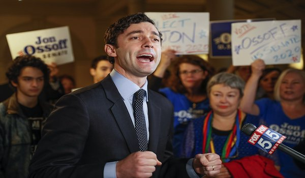 Democrat Ossoff Purdue Senate Georgia Chinese Money Donation Campaign election