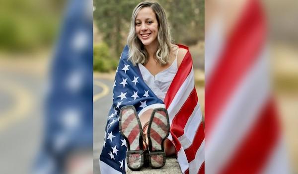 Sierra Athos America Flag photo picture yearbook high school Spokane Washington