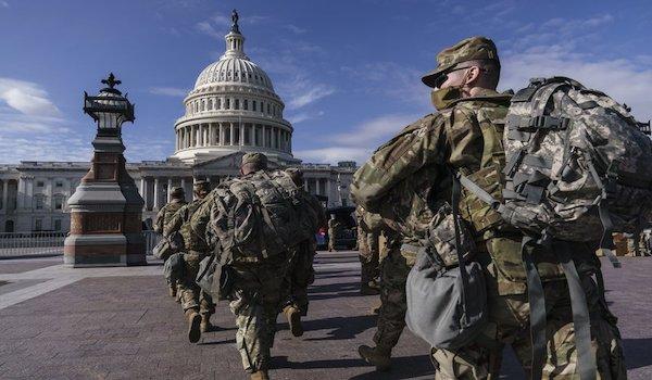 Biden inauguration military troops