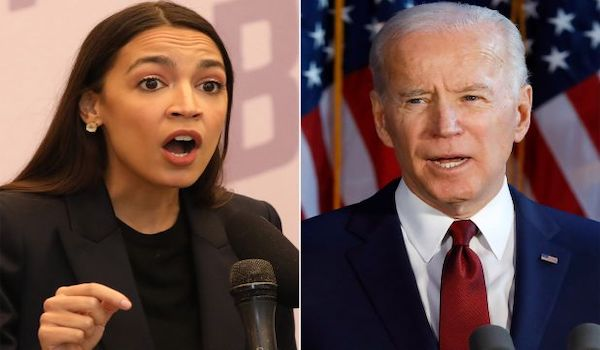 AOC Biden forgive student loan debt
