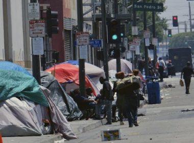 LA homeless camp police