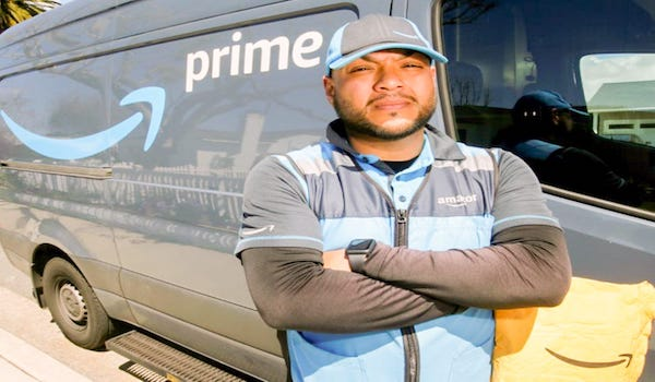 amazon driver urinates
