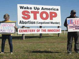 abortion memorial vandalized