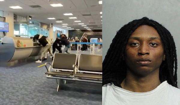 miami airport fight black crime