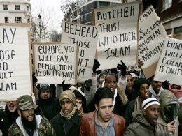 muslim islam protest london