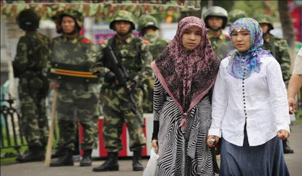 CCP soliders arrest woman