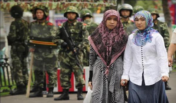 CCP soliders arrest woman