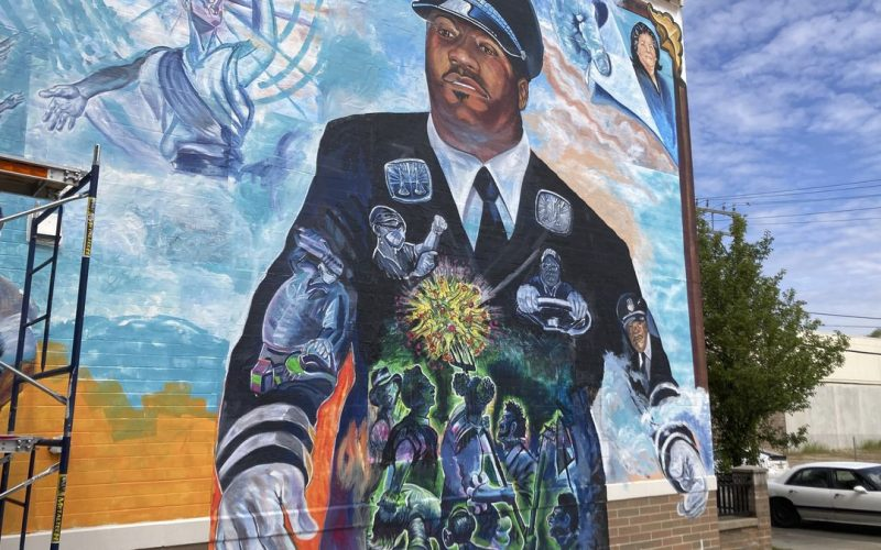 Beautiful Downtown Mural Uncloaked in Honor of our Fallen Heroes