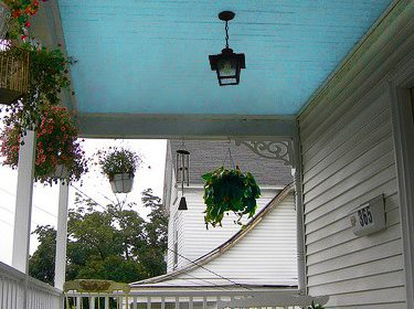 If You See Blue Paint on a Porch Ceiling... HERE is the Spooky Meaning